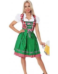 Sexy Bavarian Oktoberfest Kostyme Grønn