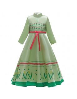 Barn Frozen 2 Kostymer Anna Prinsessekjole Grønn