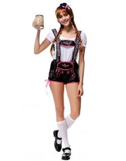 Flørtende Tyrolerkostyme Oktoberfest Lederhosen