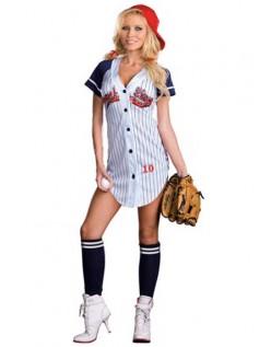 Grand Slam Baseballspiller kostyme Dame