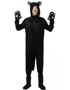 Svart Katt Kostyme Til Menn
