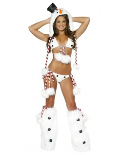 Sexy Hottie Snømann Julen Julenisse Kostyme