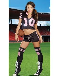Touchdown Fotballspiller Kostyme Dame
