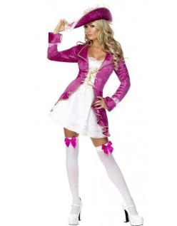 Rosa Skatter Pirat Kostyme Sjørøver Kostyme