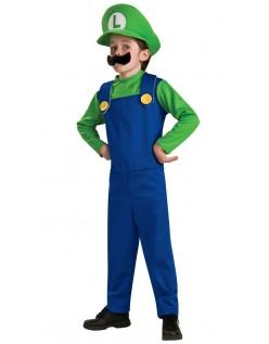 Super Mario Bros Luigi Kostyme Barn