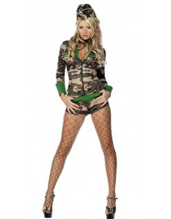 Sexy Militær Kostyme Army