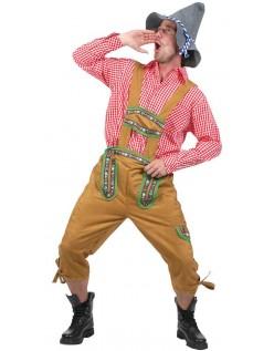 Alpine Yodeler Oktoberfest Lederhosen Kostyme
