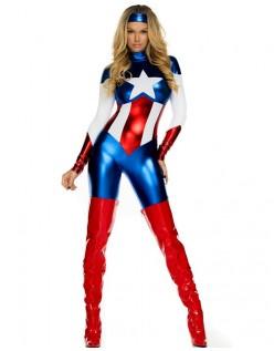 Skjønnhet Superhelt Kostyme Captain America Kostyme