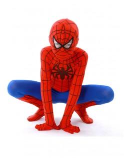 Klassisk Lycra Spiderman Kostyme Barn Rød