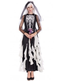 Haunting Halloween Skjelett Karnevalkostyme