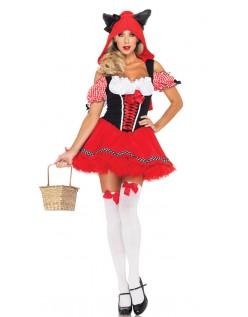 Halloween Sexy Lille Rødhette Kostyme
