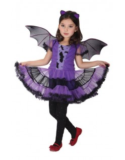 Fet Halloween Bat Kostyme Jente
