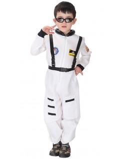Lille Barn NASA Astronaut Kostyme Hvit
