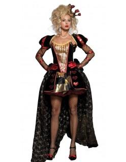 Deluxe Hjerter Dronning Kostyme