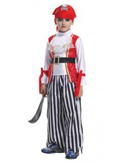 Klassisk Halloween Gutt Pirat Kostyme