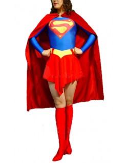 Klassisk Lycra Spandex Superwoman Kostyme