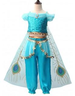 Barn Aladdin Prinsesse Jasmine Sassy Prestisje Kostyme Magedans Kostyme