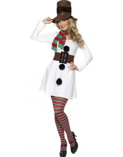 Kald Miss. Snømann Kostyme Voksen