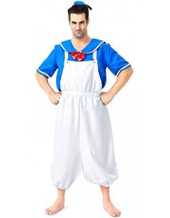 Donald Duck Kostyme Herre Matros Kostyme