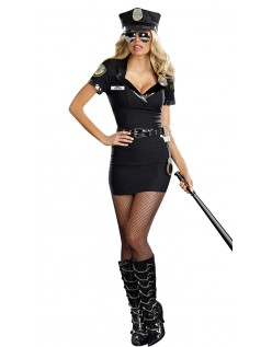 Skitne Store Størrelser Politi Kostyme til Dame