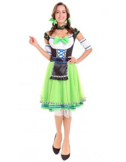 Tyroler Oktoberfest Kostyme Mellemlang Grønn