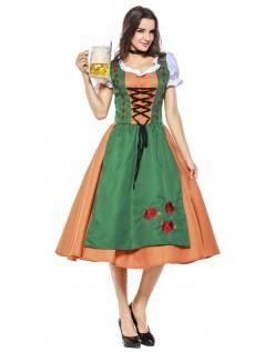 Tyrolerkjole Oktoberfest Kostyme Dame