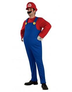 Deluxe Super Mario Bros Mario Kostyme Voksen
