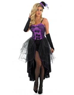 Can Can Kjole Lilla Burlesque Kostyme