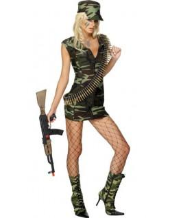 Sexy Jente Militær Kostyme
