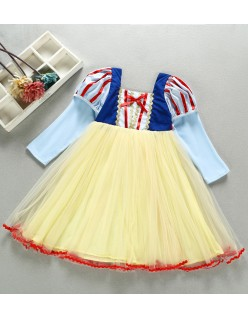 Jenter Snøhvit Kostyme Langermet Prinsessekjole