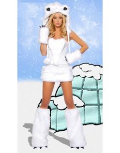 Hvit Isbjørn Kostyme Dyrekostymer
