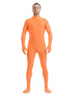 Morphsuit Lycra Spandex Drakt Second Skin Kostyme Mann Orange