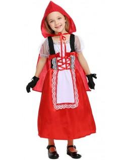 Barn Halloween Lille Rødhette Kostyme