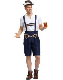 Oktoberfest Lederhosen Kostyme Bayersk Karnevalsdrakt