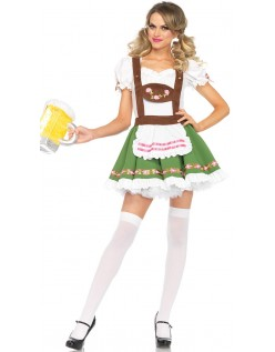 Søte Tyrolerkjole Oktoberfest Kostyme