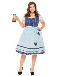 Vintage Oktoberfest Kostyme Store Størrelser Dirndl Heidi Kjole