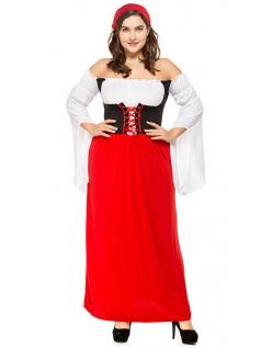 Miss Swiss Oktoberfest Kostyme Store Størrelser Rød
