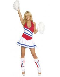 Amerikansk Cheerleader Kostyme Dame