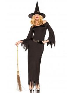 Lange Halloween Kostymer Svart Heks Kostyme