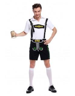 Bavarian Oktoberfest Lederhosen Kostym Svart