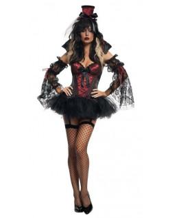 Gotisk Korsett Vampyr Kostyme Dame