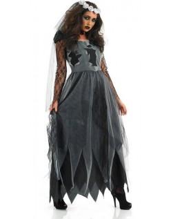 Langt Hår Halloween Zombie Kostyme