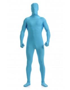 Morphsuit Skinsuit Lycra Spandex Drakt Heldekkende Herre Blå