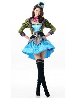 Deluxe Viktoriansk Mad Hatter Kostyme Dame