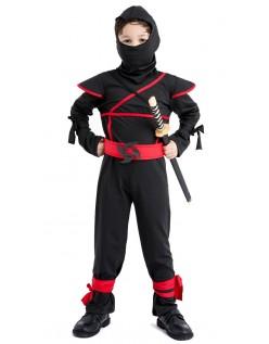 Barn Halloween Mester Ninja Kostyme Barn