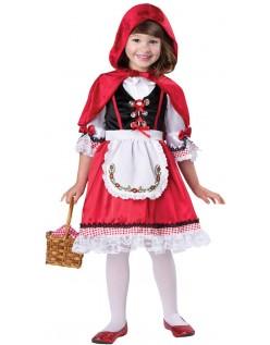 Elskling Barn Lille Rødhette Kostyme for Halloween