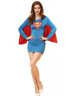 Sexy Superhelt Superwoman Kostyme