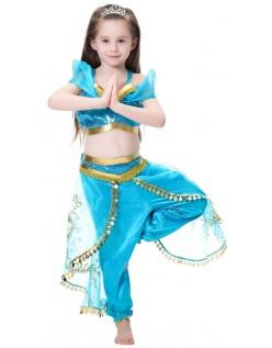 2019 Aladdin Prinsesse Jasmine Kostyme Barn Magedans Kostyme