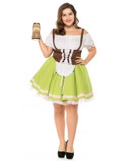 Tysk Gretchen Oktoberfest Kostyme Store Størrelser