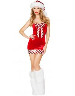 Julenisse Sukkerstang Nissedrakt Dame
